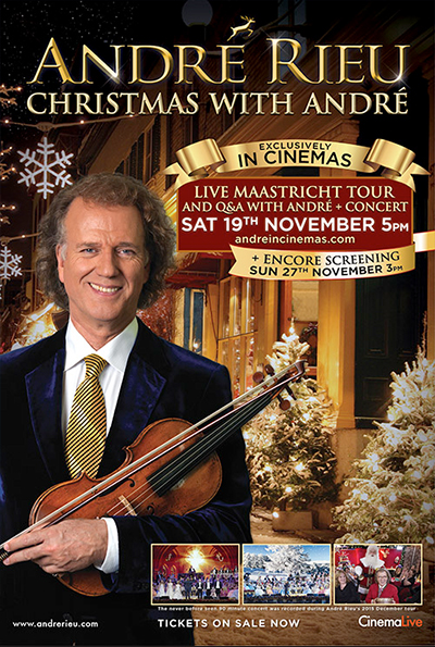 André Rieu: Christmas with André cover